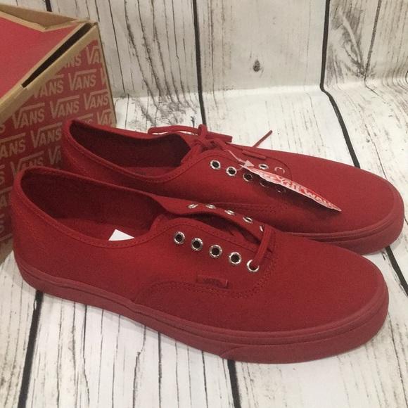 VANS authentic primar all red shoes Men s Size 11 b273e174d1
